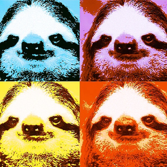 Believe us, #AndyWarhol would want you to enjoy this slothy pop art on his birthday.