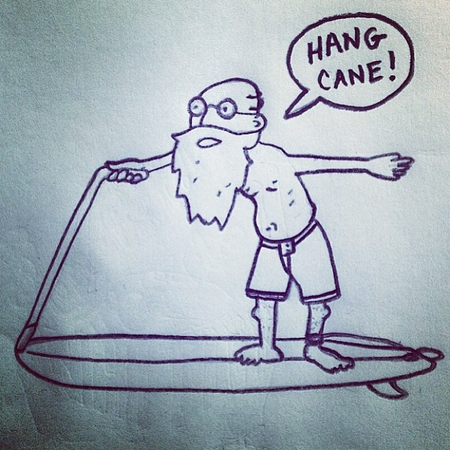 ~Here's to surfing forever!!~ Repost from the epic @printthistx #Hangman #SurfForever #SantaCruz
