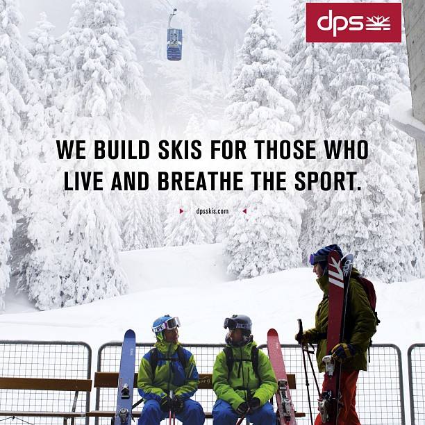 As seen in magazines on newsstands now... #DPS, we build #skis for those who live and breathe the sport. Photo: @oskar_enander - @oloflarsson, @pierssolomon, and DPS Founder Stephan Drake waiting for the tram in #Engelberg, #Switzerland. #madeintheusa...