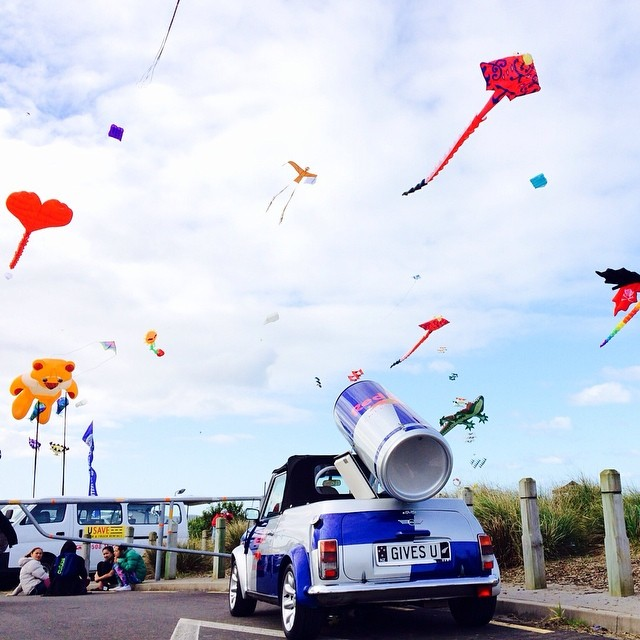 Good day to fly a kite #GivesYouWings #RedBullMini