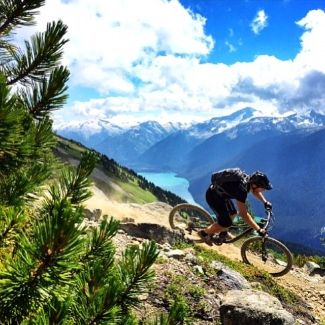 "Epic shot by @justin_dorey riding #downhill @whistlerblackcomb ""What's Your #MountainLife?"" #downhill #mountainbiking #gowhereyoudontbelong #reiproject #mountainlifeco #mountainmen #travelthursday miles and miles of #mountains #snowboarding #skiing..."