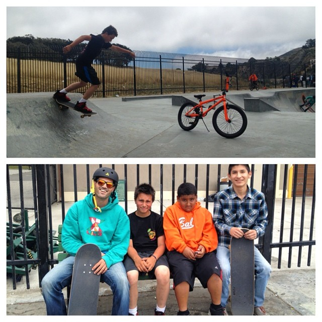 Throwing it back to our last #skate sesh at Crocker Amazon Skate Park - awesome meeting these stoked skaters & bmxers #skatepark #sanfrancisco #tbt #throwbackthursday #progression #skateboarding #bmx #skateeverydamnday
