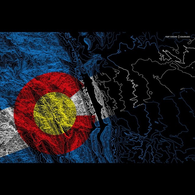 FORT COLLINS PRINT GIVEAWAY!  Tag any friends that would like this print to enter.  What Colorado location would you like to see next? #kinddesign #colorado #topography #fortcollins #fortfun #mappingcolorado #art #design #liveyourdream