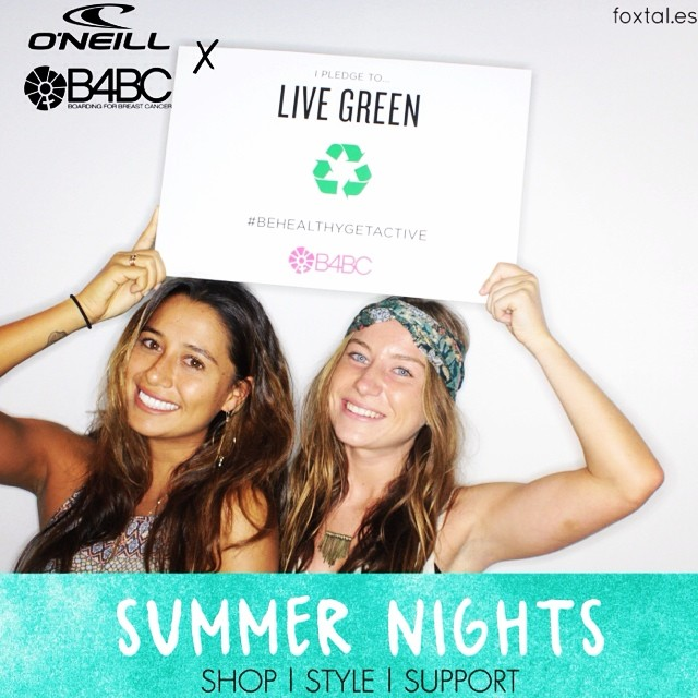 "We had the MOST amazing time with @MaliaManuel at the @OneillWomens x B4BC Summer Nights event! Malia took the B4BC #PreventionPledge to ""live green""...how do you pledge to help reduce your risk of #breastcancer? #behealthygetactive..."