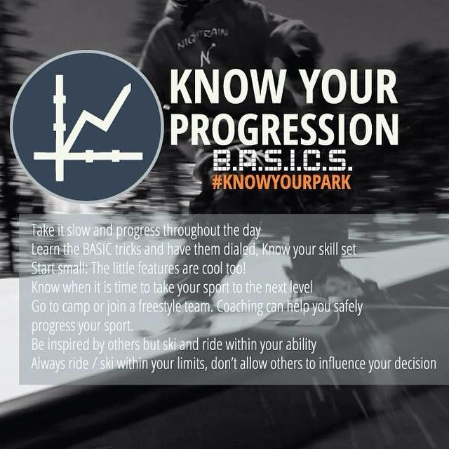 Know your progression! Always ski or ride within your ability. Show us how much you know and hashtag #KnowYourPark for a chance at an awesome @pocsports  and @volklskis prize pack!