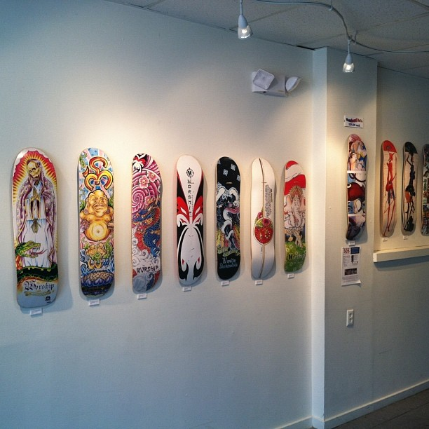 Reliance House Gallery has our boards up throughout the month of August. Check out the show if you get a chance.