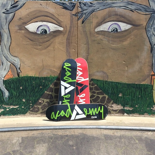 All eyes are the limited edition skate decks from Academy!! Showing respect for our skateboarding roots!! #skateeveryday #respect #limitededition #goodpeople #greatsnowboards #academykidsrule