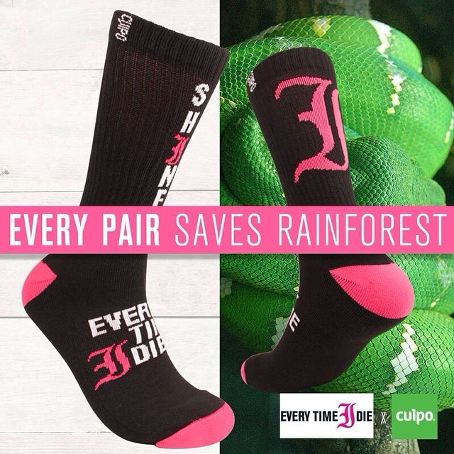 New @everytimeidie socks are available at cuipo.org/everytimeidie ! Grab your pair now before they're gone #cuipoartistsocks #saverainforest #etid