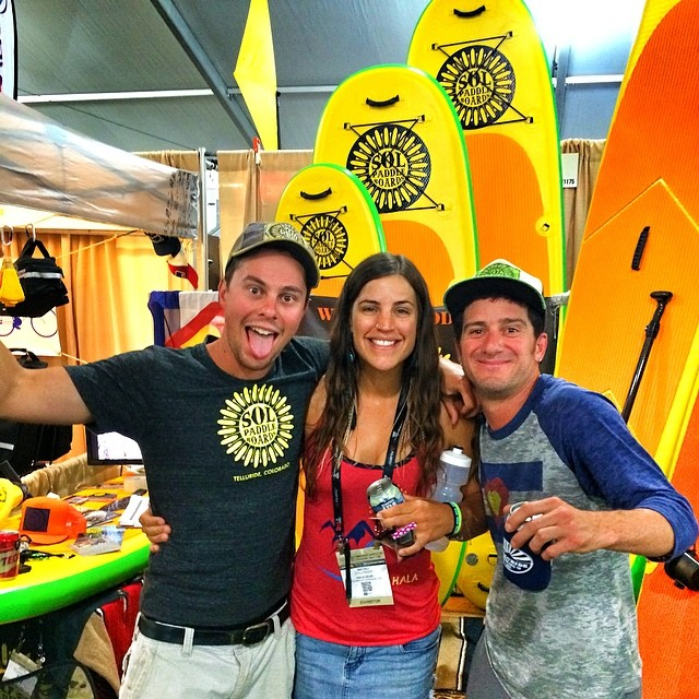There's always sunshine and soul at the @solpaddle booth! Whoop! Thanks for that Colorado IPA boys!