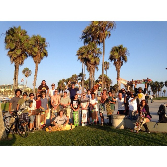 Awesome turnout at tonight's #PierToPierSkate to @santamonicapier! #loadedboards #orangatang #TwilightConcerts