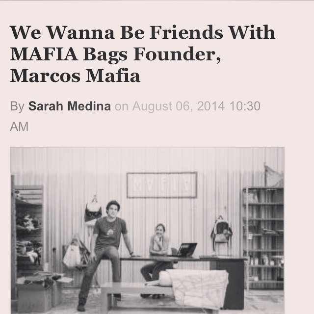 #fresh press!  Thank you @7x7mag for getting inside Mafia's life in the Bay Area.  Check it : http://m.7x7.com/style-design/we-wanna-be-friends-mafia-bags-founder-marcos-mafia