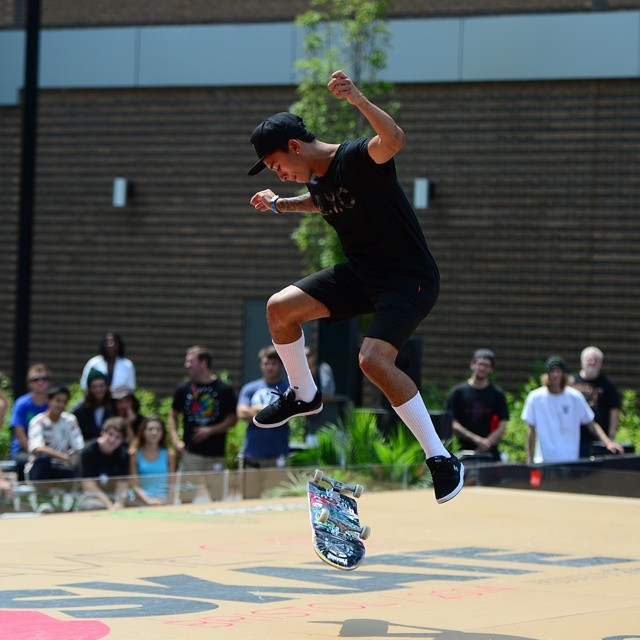 Two of the world's most respected skaters went at it in the #ESPNGameOfSkate quarterfinals.  Click the link on our profile page to watch @nyjah_huston and @chriscobracole throwdown! (Photo via @espn_images)
