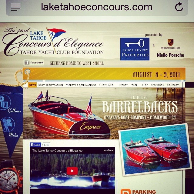Join us in Tahoe! http://www.laketahoeconcours.com/