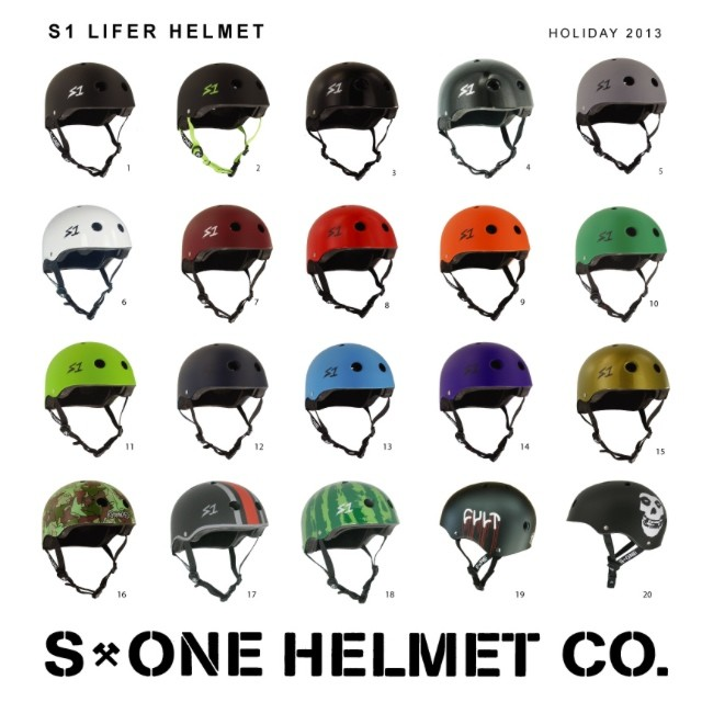 S1 Lifer Helmets . great fit + certified protection. Get a lifer for a loved one!#christmaspresent #skateboarding #skate4life #skateallday #skateallnight #bowlrider #vert #skatevert #skatepark #safesthelmet #s1helmets