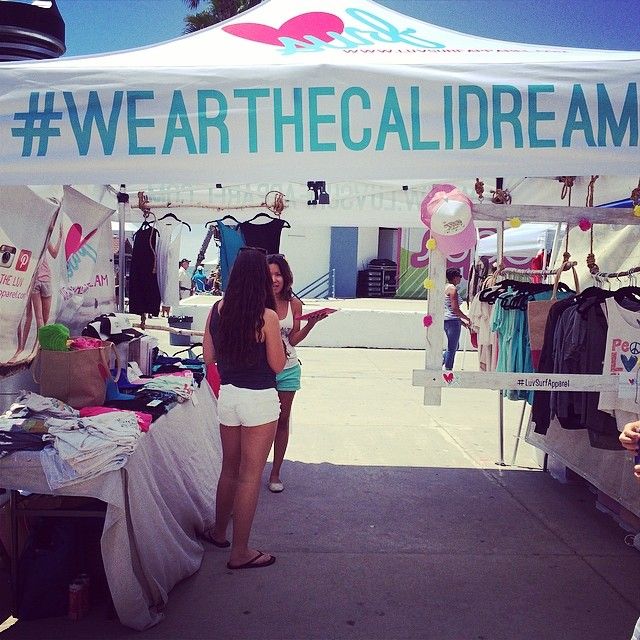 Come visit us at #supergirlpro! #wearthecalidream #spreadtheluv