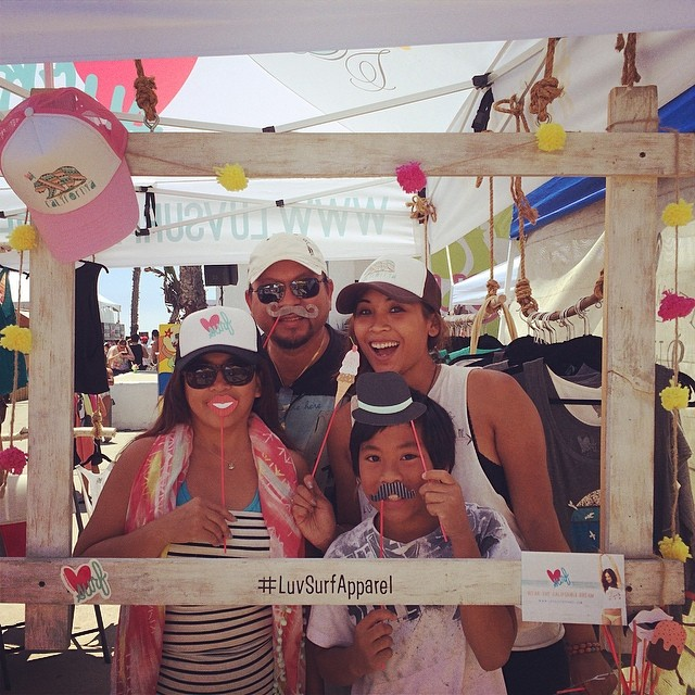 My family coming out to support  #luvsurfapparel! #supergirlpro  #spreadtheluv #wearthecalidream