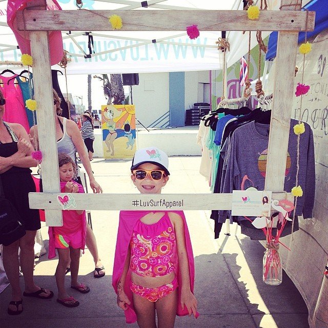 Wee little LUV Surfer girl! #wearthecalidream #supergirlpro #spreadtheluv
