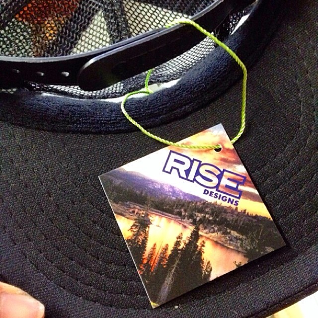 Just upgraded our hang tags, mine as well use a Tahoe photo. #risedesigns #riseinspired #riseshop