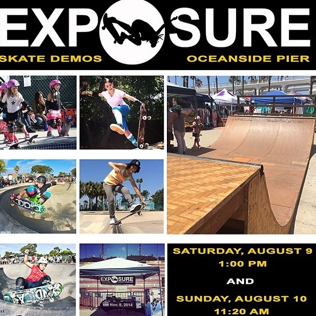 @exposureskate is hosting skate demos at the Oceanside Pier this weekend as part of the @supergirlpro surf event! Head down to the beach to check it out! @ameliabrodka #exposure2014