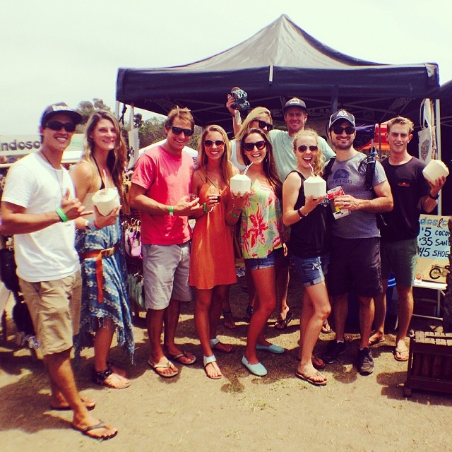 Indos and Coco's tour has made it's way to @deepsurfmag Surf N' Suds Beer Festival in beautiful Carpinteria! @farmer_steeeve @spencerjsheehan @nickcarrel @beachbritty @deepsurfmag