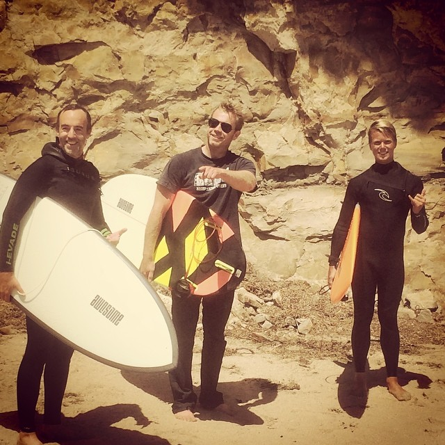Julian, Paul and Nat. good to surf some #summerwaves today