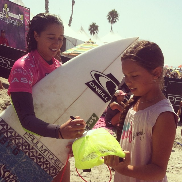 Happy Birthday to #teamb4bc #surfer @maliamanuel! This birthday girl spent the day stoking out fans at the #SupergirlPro. Tune in to the final day of competition tomorrow as Malia works to defend her #SuperGirl crown!
