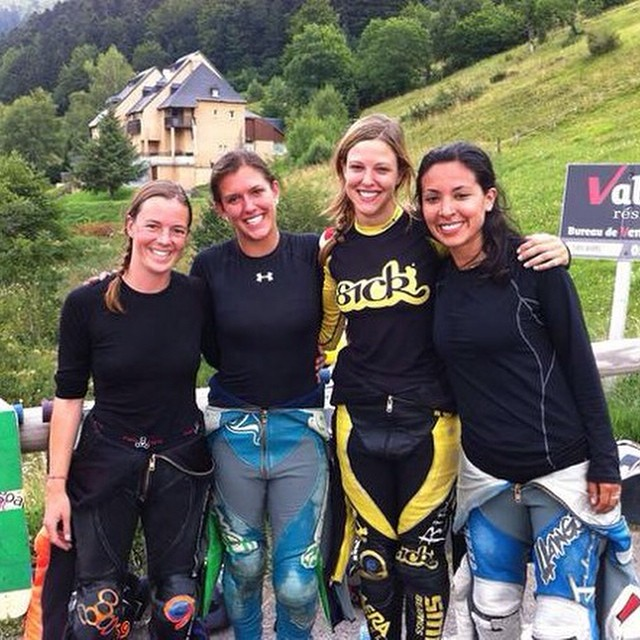 Just now! #Peyragudes2014 Women's result:  1. @spokywoky  2. @magalyfbe  3. @e_coree  4. @tamaraprader  CONGRATS LADIES! You're all amazing! @freeridesorg photo #pnd2014 #peyragudes #longboardgirlscrew #ladiesofshred