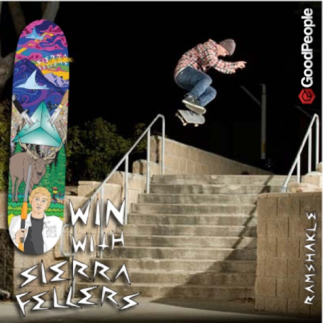 Respect! @thefellers has just about every #heelflip combo down, and to celebrate Ramshakle X Pro Rider Sierra Fellers joining the #GoodPeople family we are giving away his new #promodel release on GoodPeople.com.  To win: post a pic or vid of you...