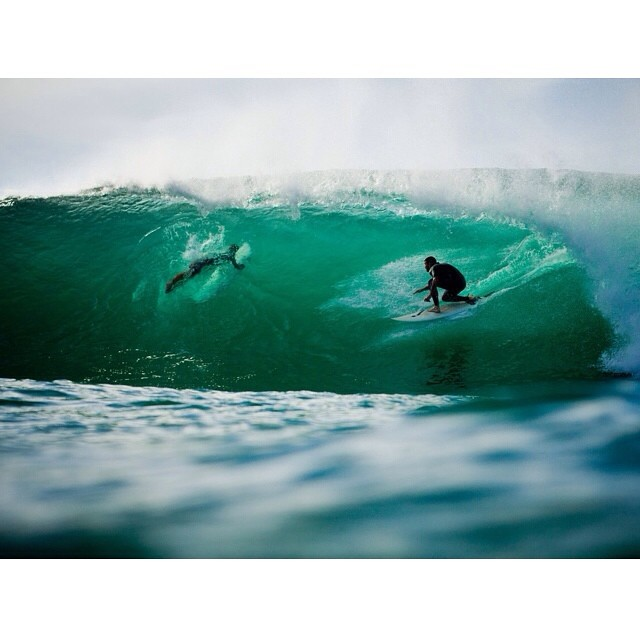 Offshore + barrels for hours and only a few guys out • throwback to a session I will never forget.  #sarahleephoto