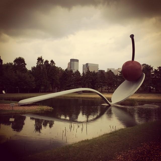 What's your favorite #jumbosized @sculpture? #thinkbig #minneapolissculpturegarden #minneapolis #cherryontop