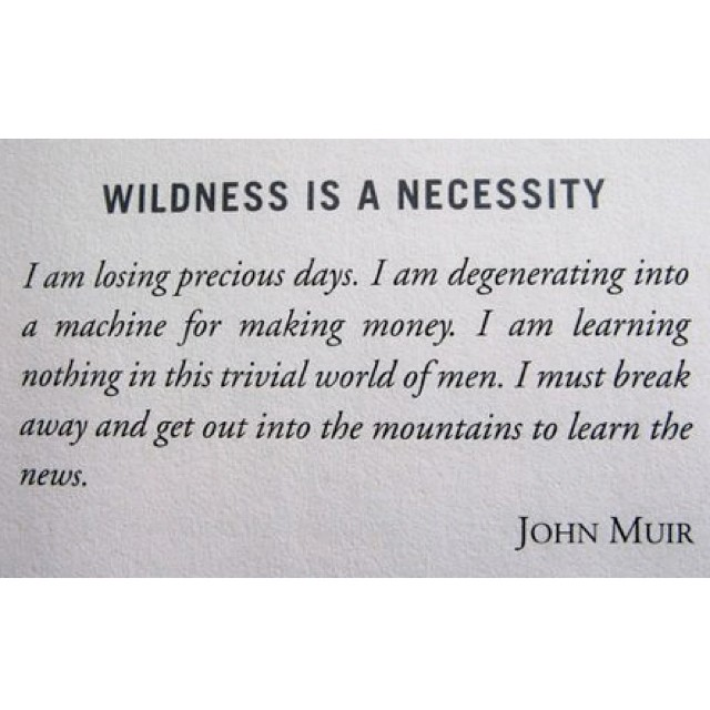 Mountains as news source #johnmuir on #wildness