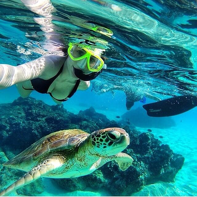 Snorkeling with @bru_bernardi and