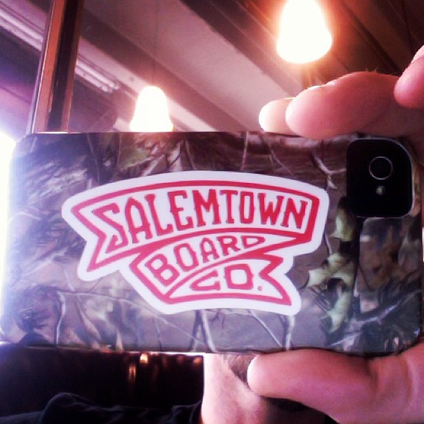These new die cut STBCo banner stickers fit perfectly on iPhone cases and look great w camo.