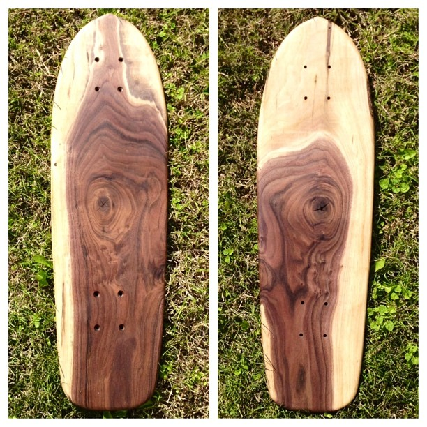 Incredible reclaimed walnut cruiser from a native Salemtown tree. It doesn't get more locally sourced than this.