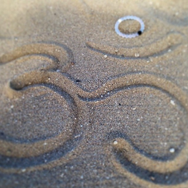 Write it in the sand #om #livelokai Thanks @elashtangi
