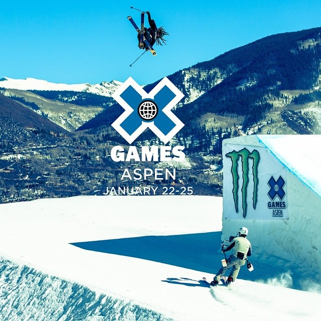 Get stoked!  The X Games will be hosted January 22-25, 2015 in Aspen, Colorado. (Photo via @espnimages)