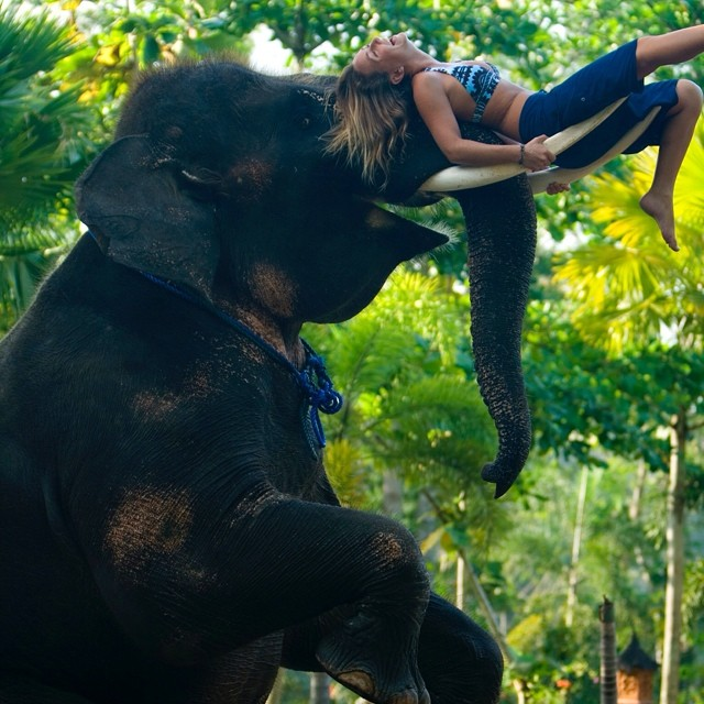 Just hanging out with a friend on #WorldElephantDay