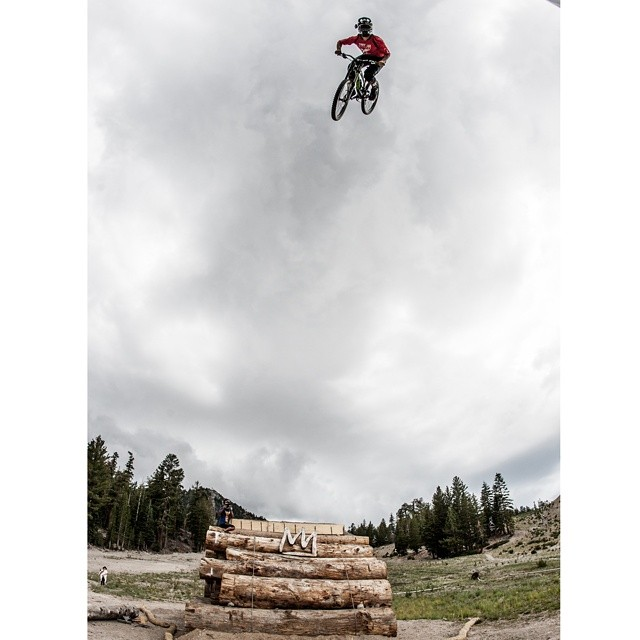 We are eight days away from watching @camzink attempt to break the dirt-to-dirt mountain bike backflip world record at @mammothmountain.  The #MammothFlip presented by @monsterenergy will air live Thursday, Aug. 21 at 9:30 pm ET on @espn.