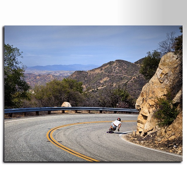 @maximgarant enjoying some Malibu runs on his cross country road trip