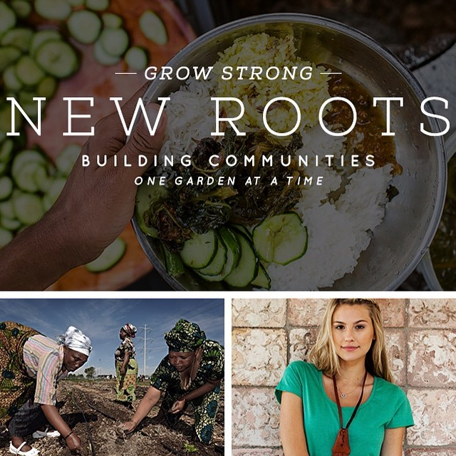 Shop the Vera, Valorie, Sophie + Sadie tees to support #NewRoots! #giveback #dogood #gardens #communitygardens #freshfood #fall2014 @theirc