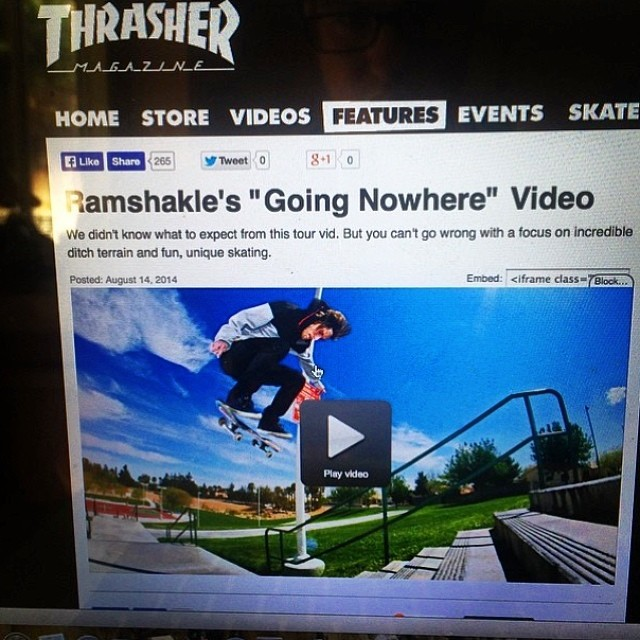 "We just dropped our Arizona / Nevada ""going nowhere"" tour video over on the @thrashermag site. Head on over and check it out!"