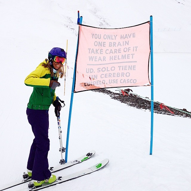 A good reminder any time of the year! #summerofshred #skiing #Portillo #Chile #sisterhoodofshred