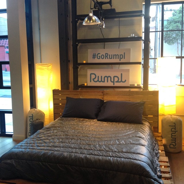 Congrats to our friends @gorumpl on a successful launch party - whiskey, beer, bacon, music, and the world's best blanket - huge success! #rumpl #gorumpl #outdooradventure #blanket #adventure #exploremore #thegreatoutdoors