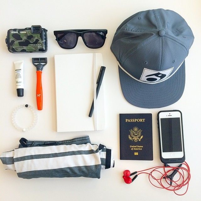 lokai's founder @stevenizen is going on a weekend journey. Check out what he's bringing! #livelokai #TGIF