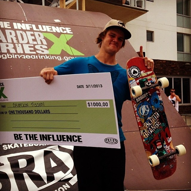Congrats to Caliber rider @brandontissen for winning the second round of the ASRA's Boarder Cross series! Yeah buddy!