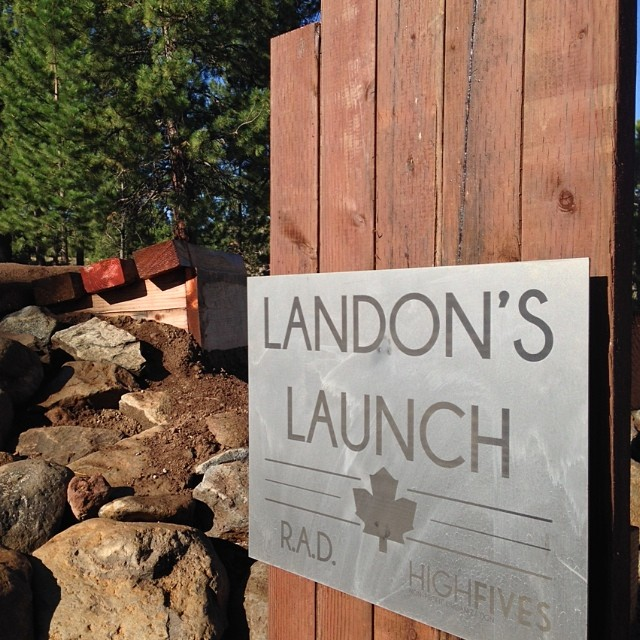 Landon's Launch is up and ready at the truckee pump track! @landonmcgauley You rock!