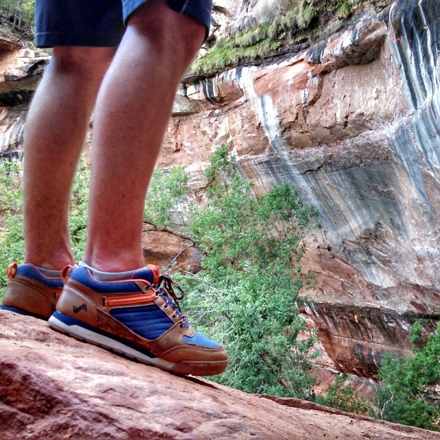 The Navy/Orange Banks matching well with red rocks of Zion. #Getoutthere this weekend! #Irie #adventureworthy