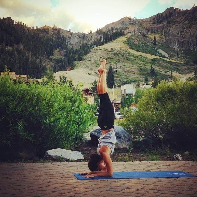 Beautiful shot of @waveofwellness getting her forearm balance on from Squaw Valley! Come on down to Kings Beach this weekend for the @tahoenalu race and meet Jessica at the Local Honey booth! #bikinisale #localhoneydesigns #jessicacichra...