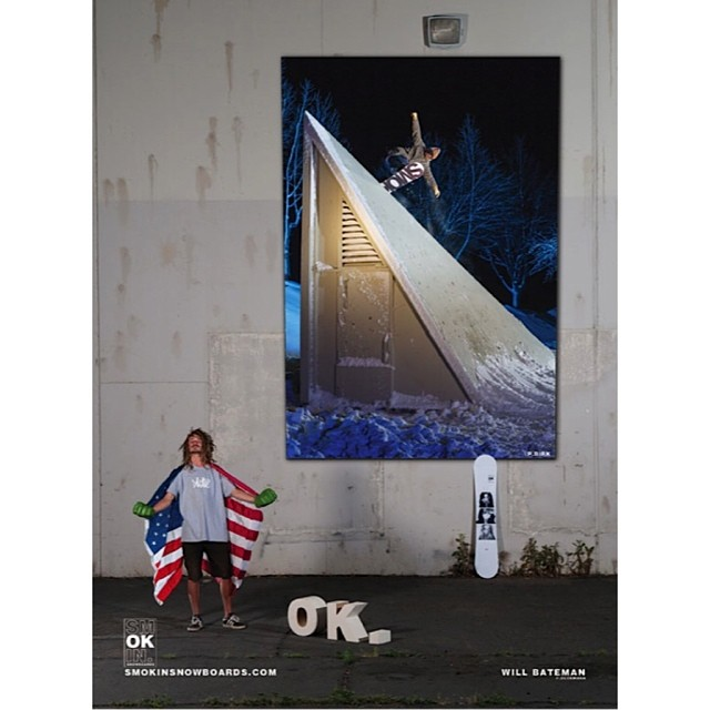 Fuck yeah Will!! We love you man- rad first ad. Thanks for putting our ads in the front of the mag @twsnow, this is a big day for Smokin - thanks to all involved in the new ads! #lotsofwork2dothisshit @benbirk @kyle_beckmann @motorhome...