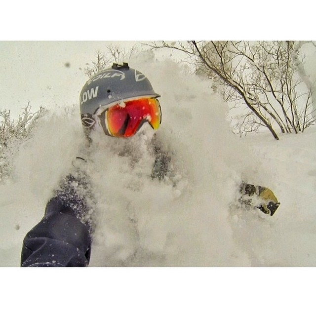 Sushi and chest deep powder. Two good reasons to visit Japan this winter. Skier and photog: @ericbalken #some_thing_else @powderwhores